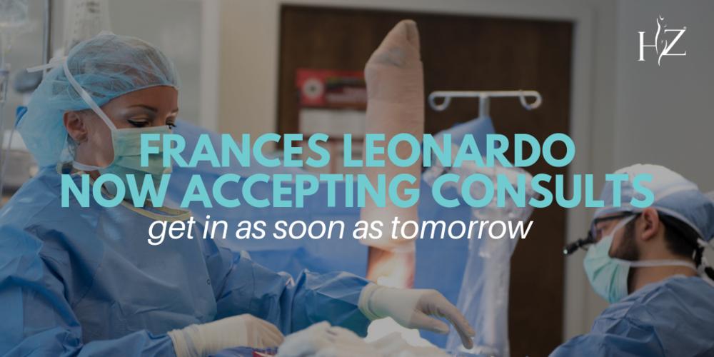 frances leonardo hz plastic surgery, plastic surgeon consultation orlando