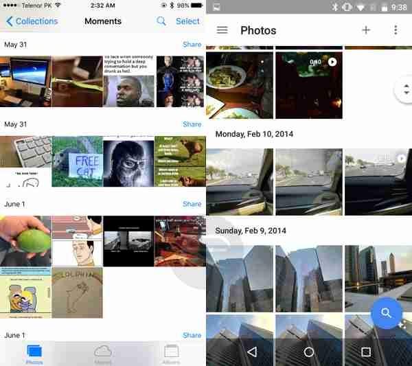 خدمة صور ابل تقابلها خدمة صور جوجل
