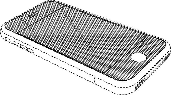 براءة إختراع تخص آبل, تجسد هاتف مع شاشة منحنية.