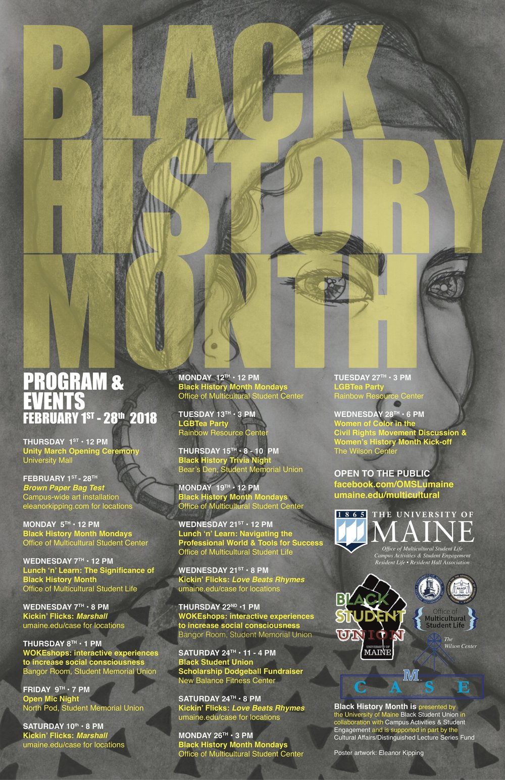 University of Maine, Black Student Union, Black History Month