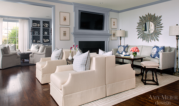 La Jolla Living Room And Library Reveal  Amy Meier Design - The living room la jolla