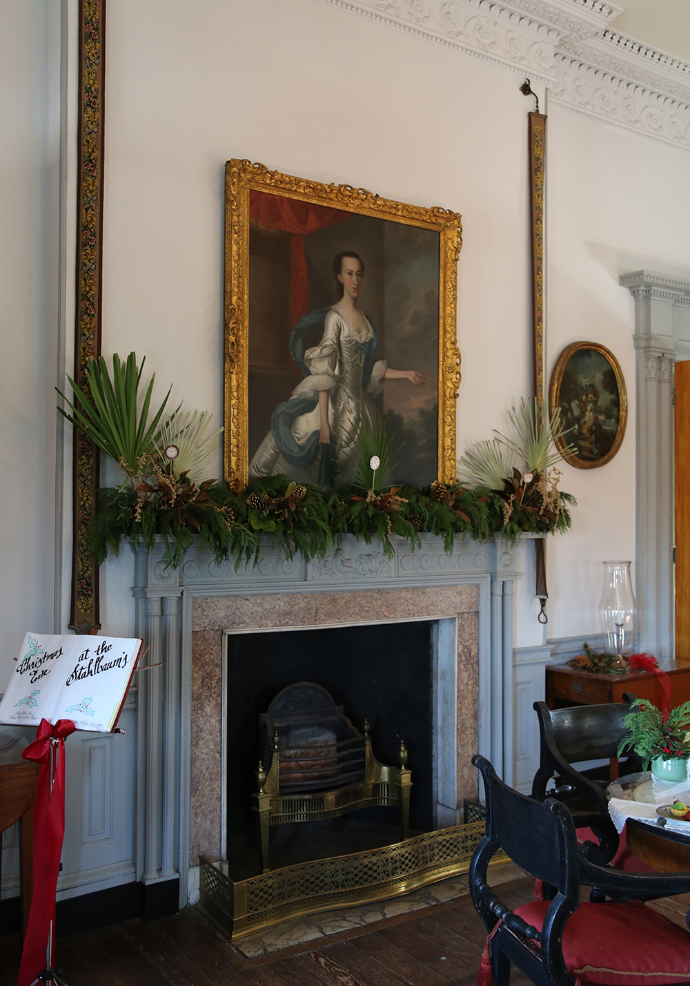 Amy Meier Manigault House formal room fireplace