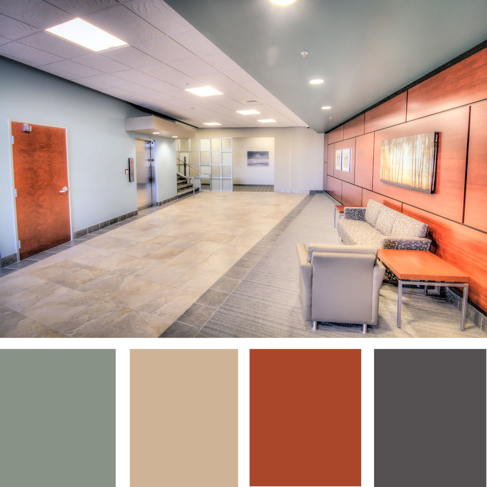 The Image Below Is An Example Of A Complementary Color Scheme With Very Muted And Grayed Out Mint Vibrant Reddish Orange Wood Tones