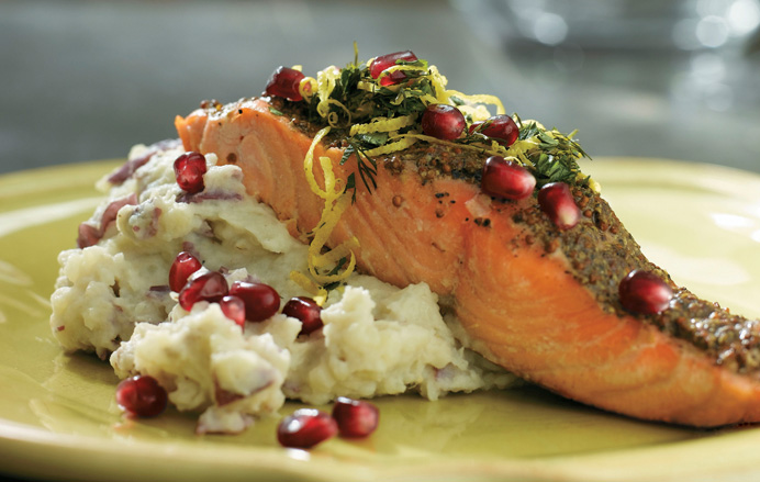 Pom Broiled Salmon One Of My Favorite Holiday Recipes Hbps