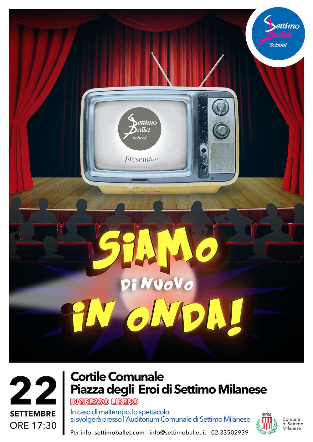Siamo di nuovo in onda! - Vieni a vedere la seconda data dello spettacolo che è stato presentato al teatro Nazionale di Milano.Ti aspettiamo in Piazza degli Eroi a Settimo Milanese.22 settembre - Ore 17:30INGRESSO GRATUITO!