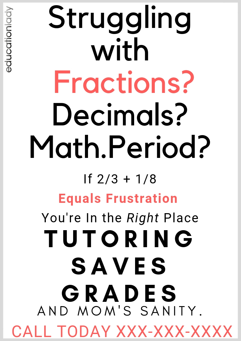 Struggling With Math Flier Example
