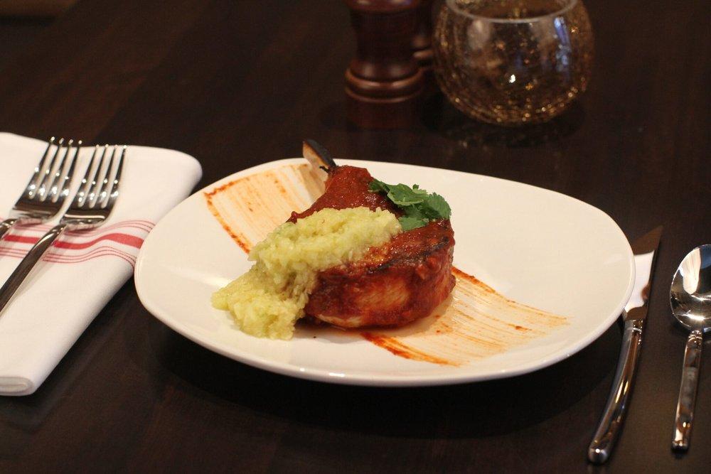 BRUNCH MENU for West Des Moines Restaurant Blu Toro Cantina + Grill Pork Chop