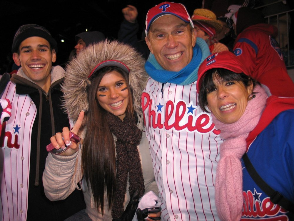 It's 2008! Phillies win the World Series! We are there! Crazy exciting!