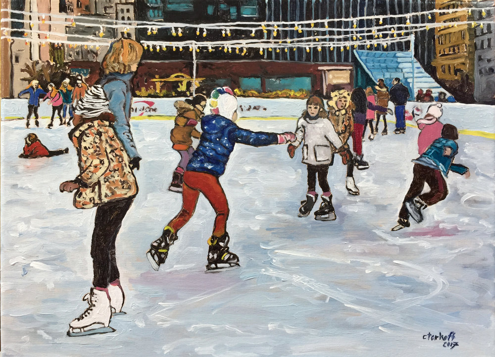 Ice Skating at Dilworth Park on a Sunday Afternoon , 2017