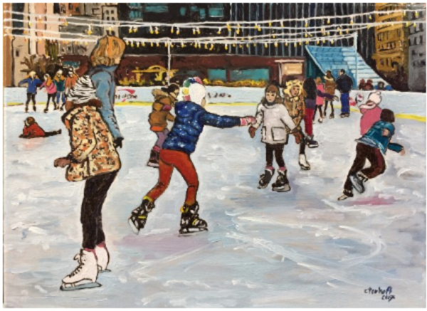 """Ice Skating at Dilworth Park on a Sunday Afternoon."""