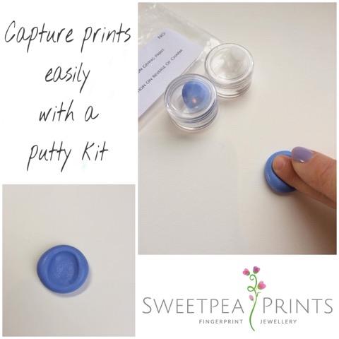 Sweetpea Prints Sweetpea Prints Fingerprint Jewellery