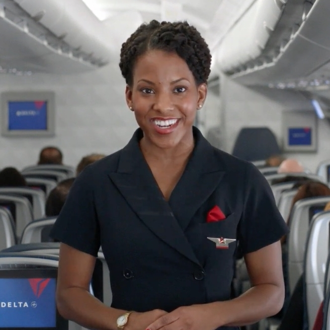 Starring in the Delta Air Lines Commercial