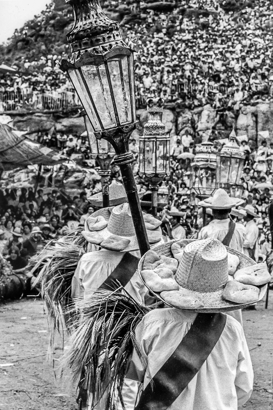 Dancers with Hats, Bread and Lanterns, Atlixcayotl Dance Festival