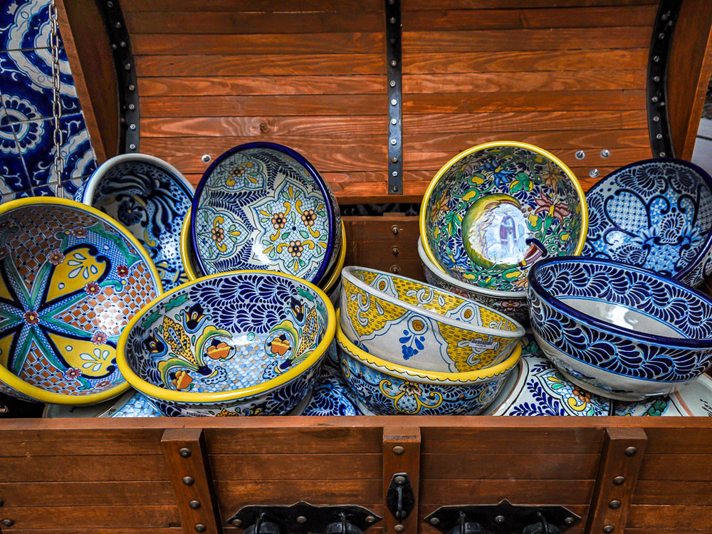 Chest of Talavera Bowls