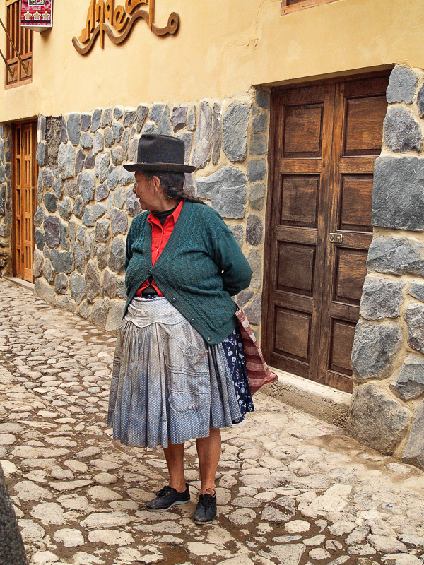 Woman with Black Hat, Cusco, Peru
