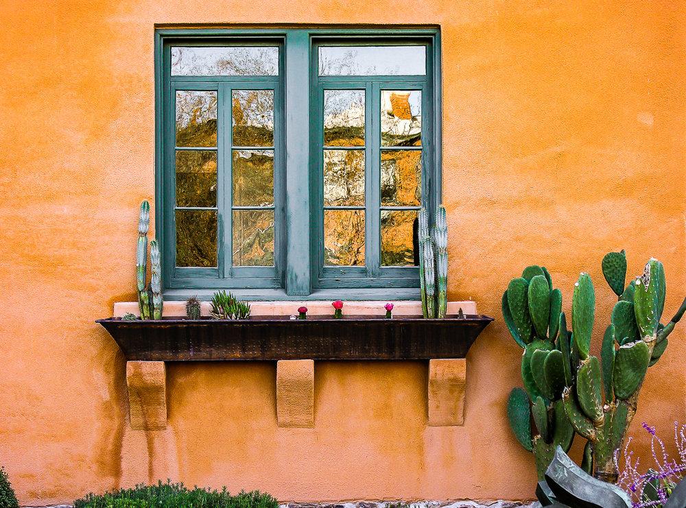 Orange Adobe Wall