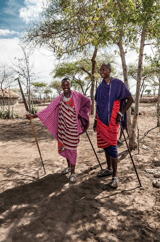 Two Young Maasai Men