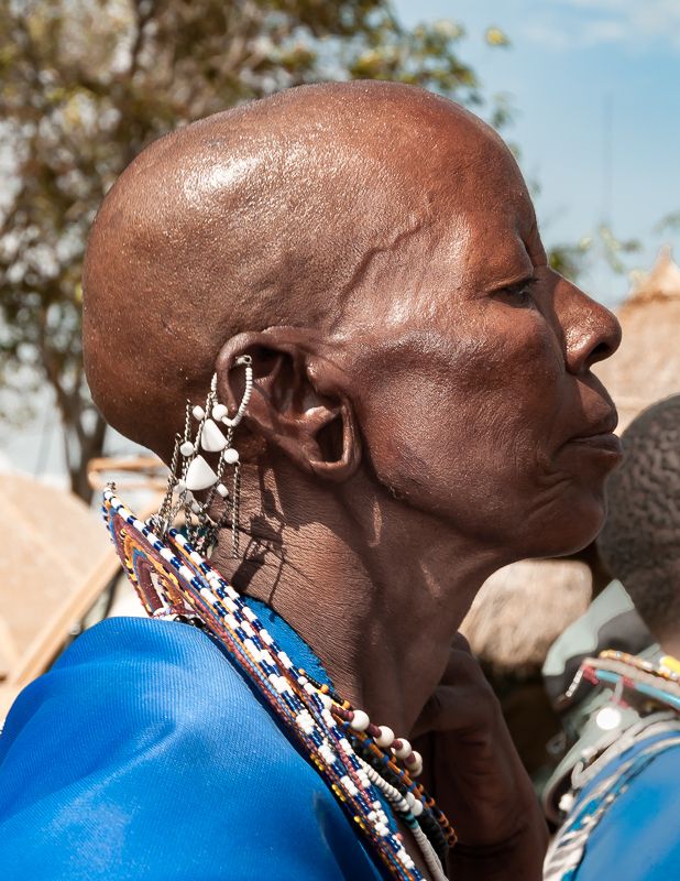 Maasai Woman in Profile with Necklace