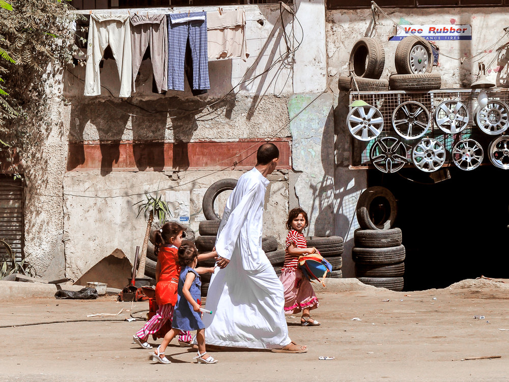 Father and Three Daughters, Cairo, Egypt