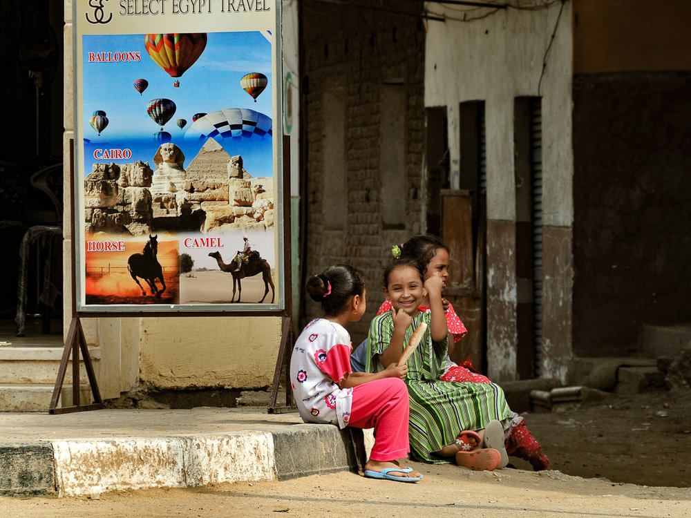 Three Little Girls, Cairo, Egypt