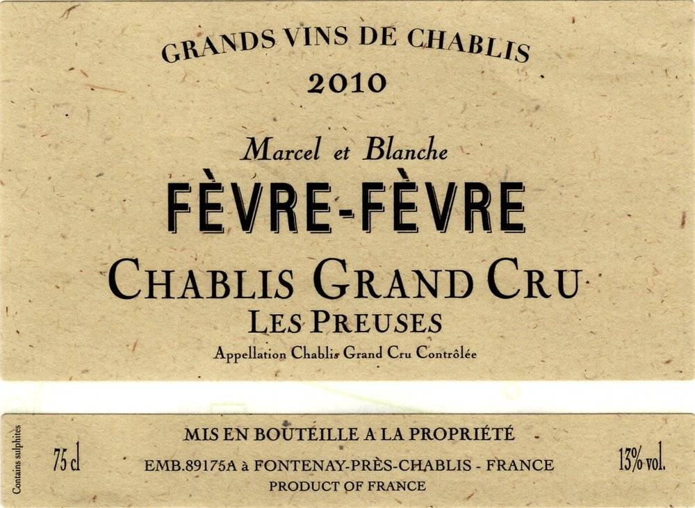 A brilliant pale yellow, the nose has a beautiful array of mineral, floral and fruity notes.  There is a liveliness on the palate, which gives a pleasant sensation of freshness, and very long-lasting aromas. In this Chablis Grand Cru, Chardonnay expresses all its delicacy and elegance…