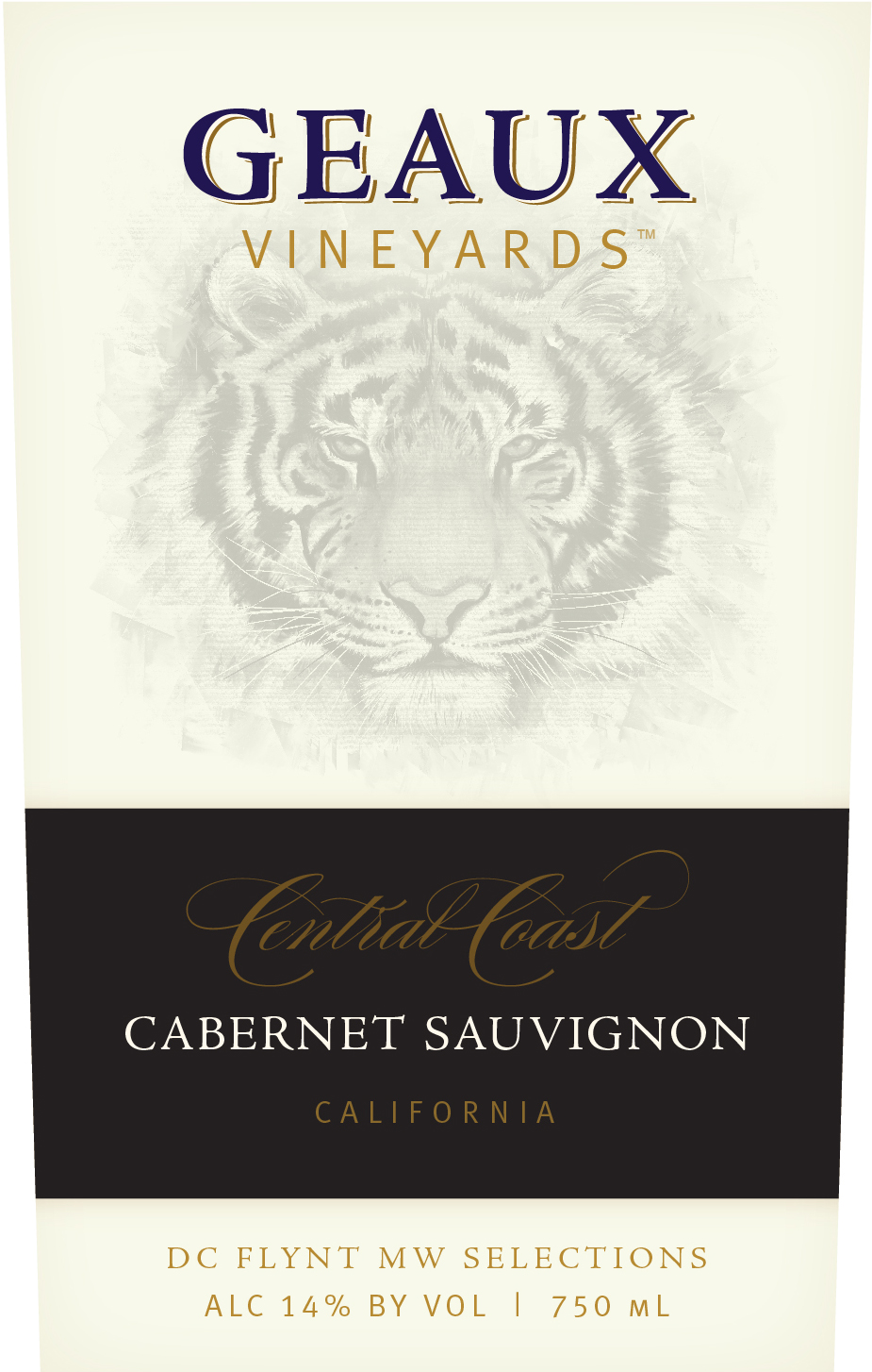 Geaux Vineyards Central Coast AVA Cabernet Sauvignon is impacted from the cool temperatures from San Francisco Bay to the Santa Barbara coast. Steep, exposed hillsides and sun-drenched valley sites maximize the positive effects of warm days and cool nights to create this classic, full bodied, Cabernet Sauvignon with notes of cassis, black cherry, vanilla and spice.
