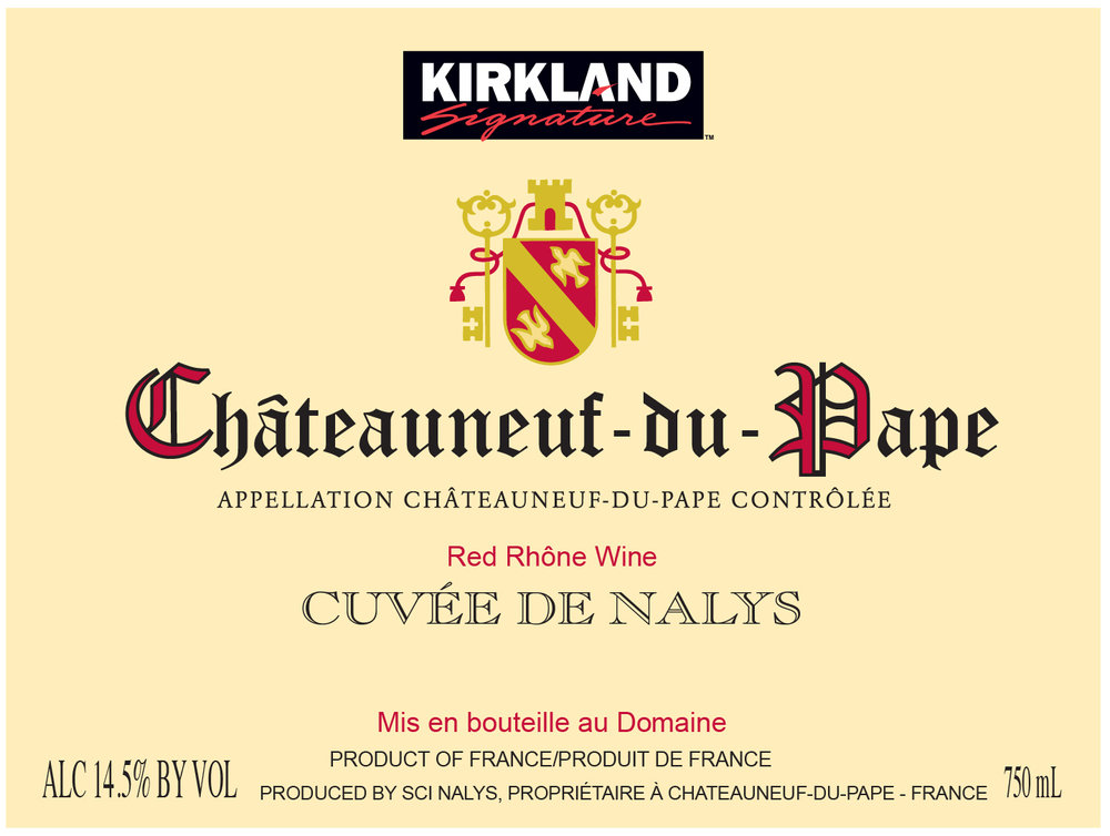 This Signature Series Kirkland Signature™ Chateauneuf-du-Pape is produced at one of the oldest and best-known Domaines in the southern Rhone. The grapes are sourced from the vineyards of Bois Senechal 63%, la Crau 24%, and 13% from Grand Pierre. The deep purple robe leads to sweet violet and fresh fruit notes of black fruit, black berry and cassis balanced by hints of cedar and spice.