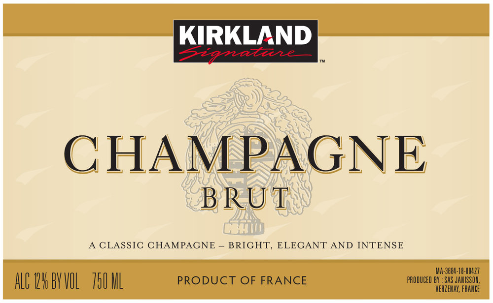 The Signature Series Kirkland Signature Brut Champagne comes from the top Chardonnay, Pinot Noir and Pinot Meunier vineyards in Verzenay of Manuel Janisson, and Sezanne of Roland de Bruyne. A delicate, pretty nose of yeast; bright apples and apricots; orange rind; flowers; and honey. On the palate, a well-balanced, rich Champagne with mouth-watering acidity.