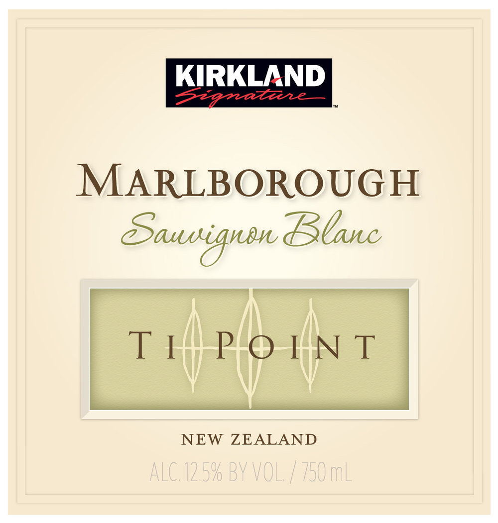 This Kirkland Signature Marlborough Sauvignon Blanc from Ti Point Vineyard in Marlborough, New Zealand, has bright grapefruit and lemon-lime citrus notes coupled with hints of mineral, ripe pear and green apple flavors which support the classic gooseberry character. There is plenty of crisp acidity on the finish surrounded by a palate structure of sweet lemon and orange zest.