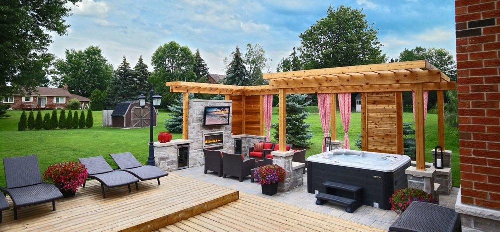 Backyard Hot Tub Installation Option