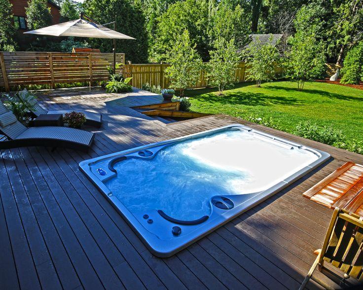 harbor hot tubs swim spa edge of deck