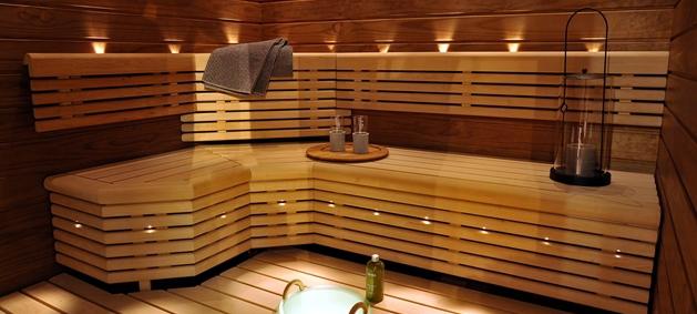 sauna heat up time