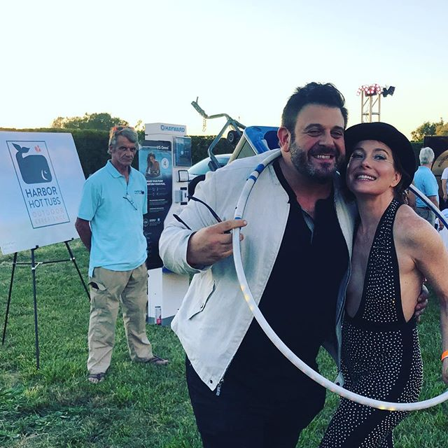 Look who is hanging with us at Harbor Hot Tubs!! Adam Richman and Samantha Slithers!! #harborhottubssouthampton