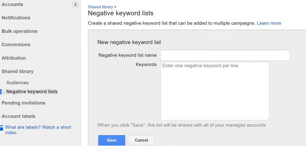 AdWords-Manager-Account-Shared-Negative-Keywords