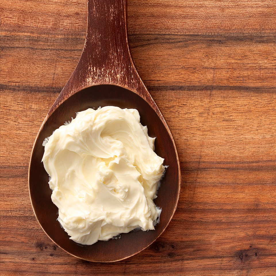 Shea butter  comes from the seeds of the fruit of the Shea (Karite) tree and that is naturally rich in vitamins A, E and F.