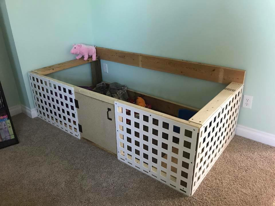 An area one of our pig families created for their little Princess
