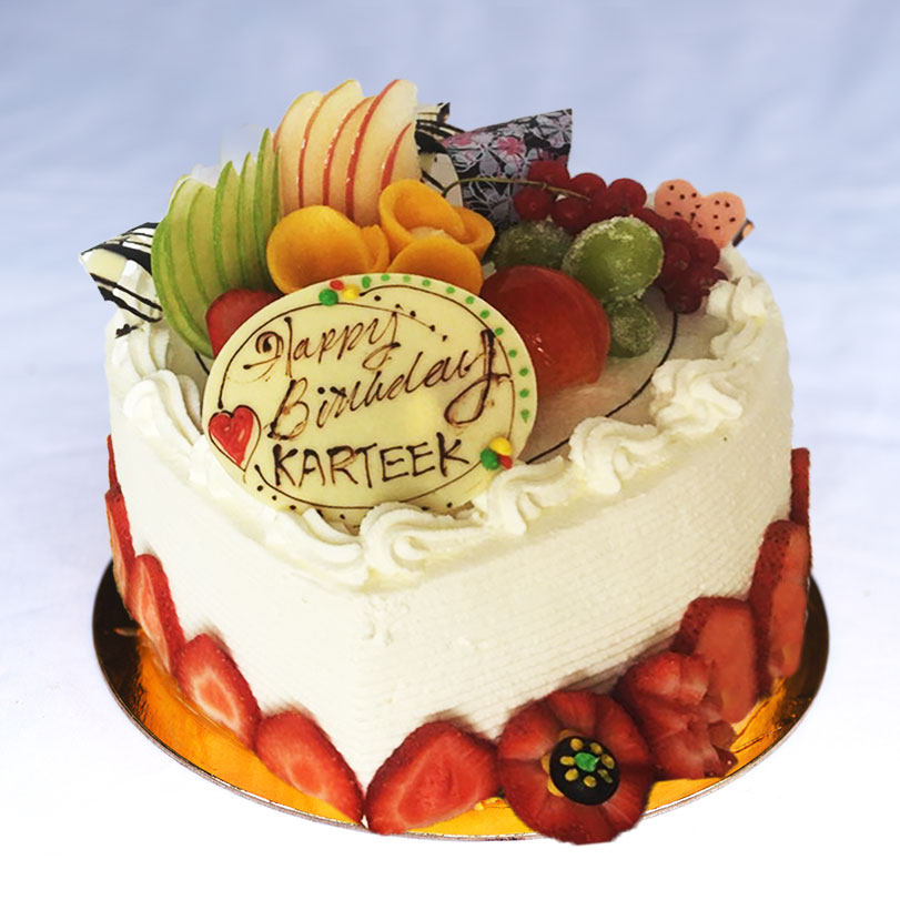 Fresh Cream Fresh Fruit Cake 鮮忌廉鮮雜果蛋糕 Other Options: Mango* 芒果* / Strawberry Short Cake 士多啤梨 / Lemon Strawberry & Blueberry 檸檬士多啤梨和藍莓 / Black Forest 黑森林 / Fresh Chestnut 鮮栗子 / Durian* 榴槤*