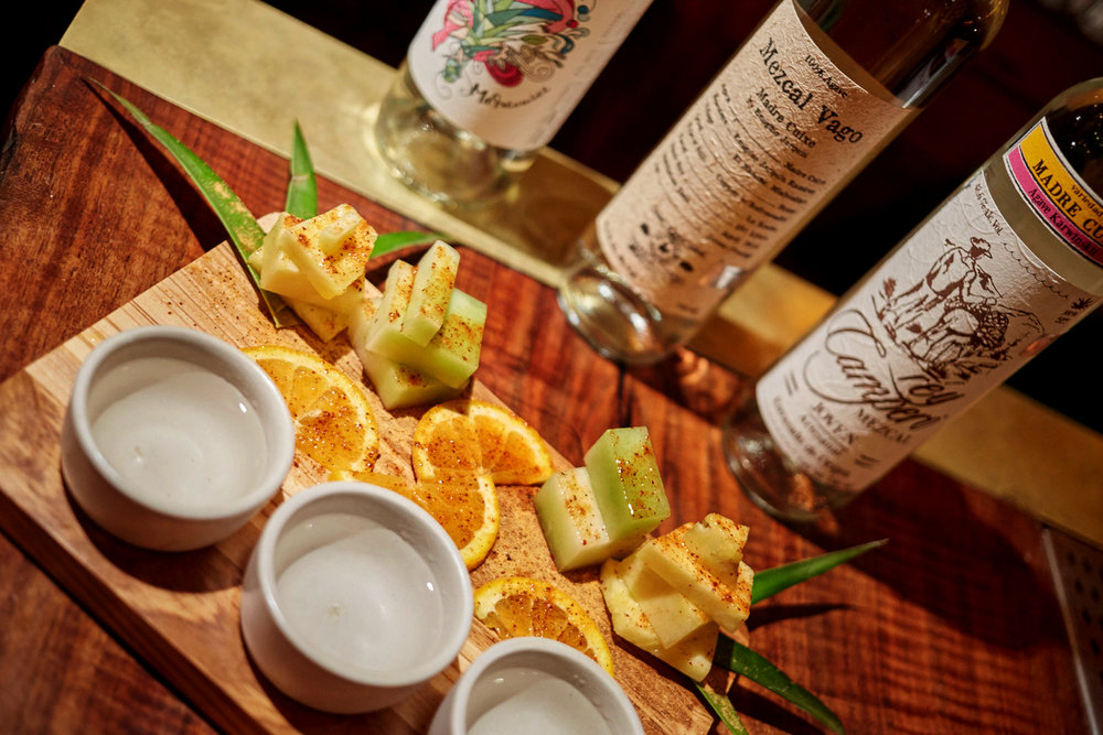 Mezcal and Tequila Flights