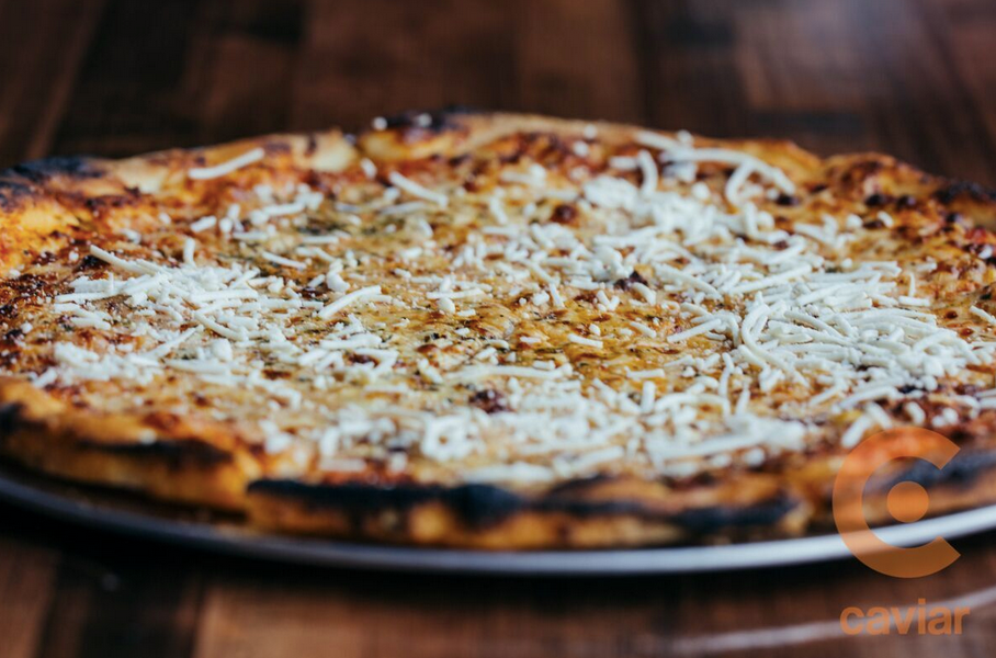 Our tasty Four Cheese Pizza!