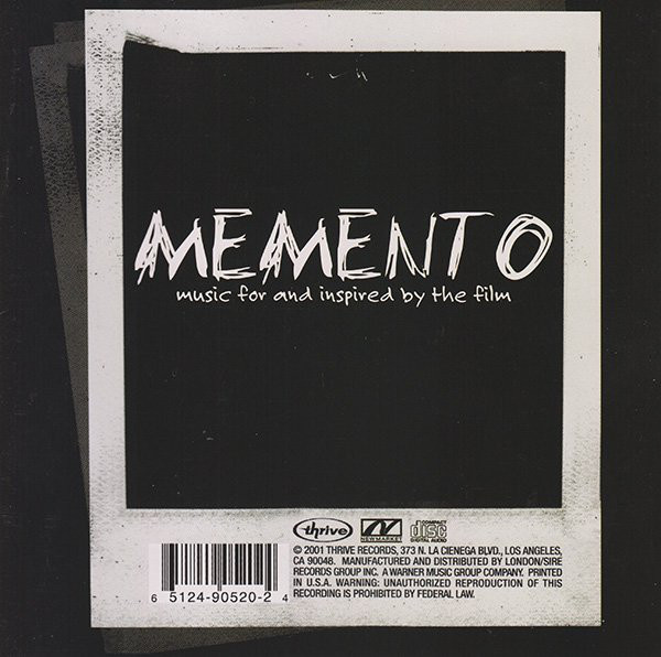 Memento (Dir. Christopher Nolan) Soundtrack Producer - Todd C. Roberts