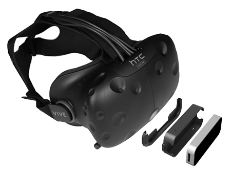 @@@@ Leap Motion Controller and HTC Vive, exploded view @@ Leap Motion 控制器与 HTC Vive,分解图 @@ Leap Motion ControllerとHTC Vive、分解図 @@@@
