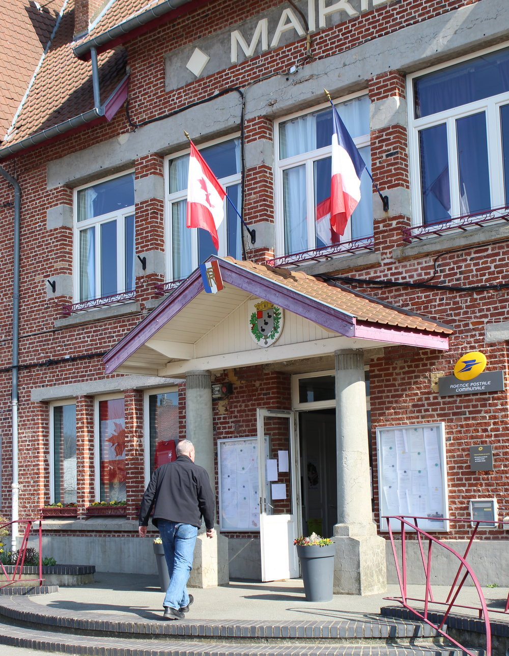 The mairie (town hall) is the location of the free English lessons for villagers.