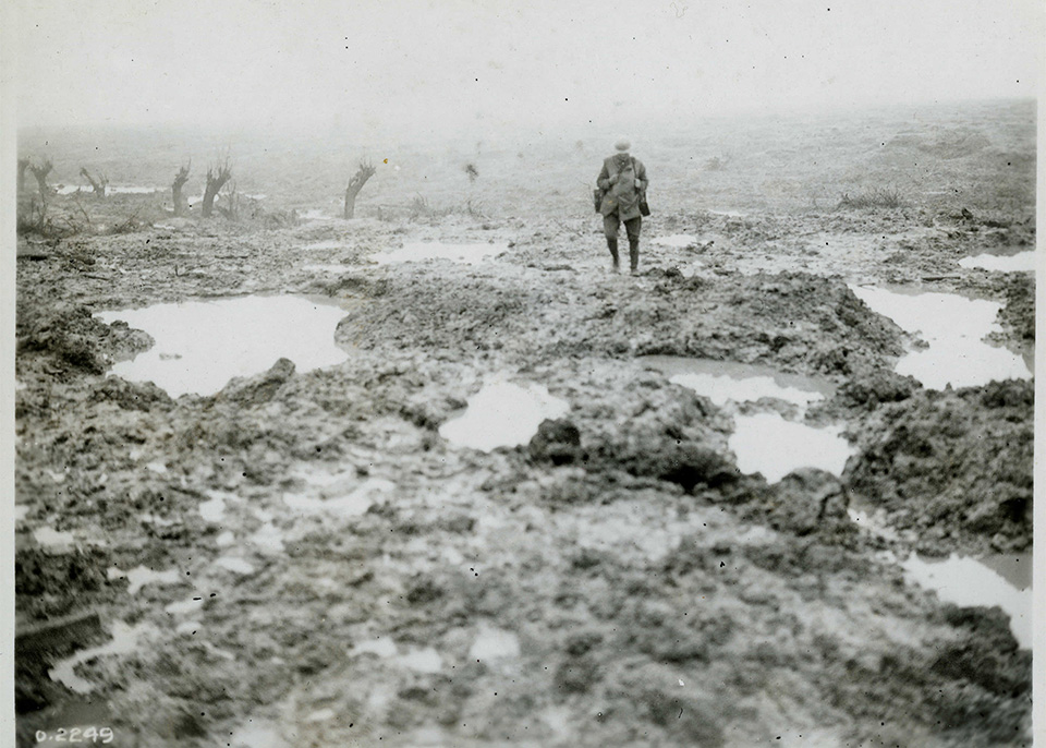 Passchendaele is synonymous with mud and sacrifice; fighting in appalling conditions.