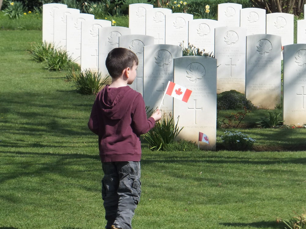 Remember at the cemeteries; Beny-Sur-Mer, France.