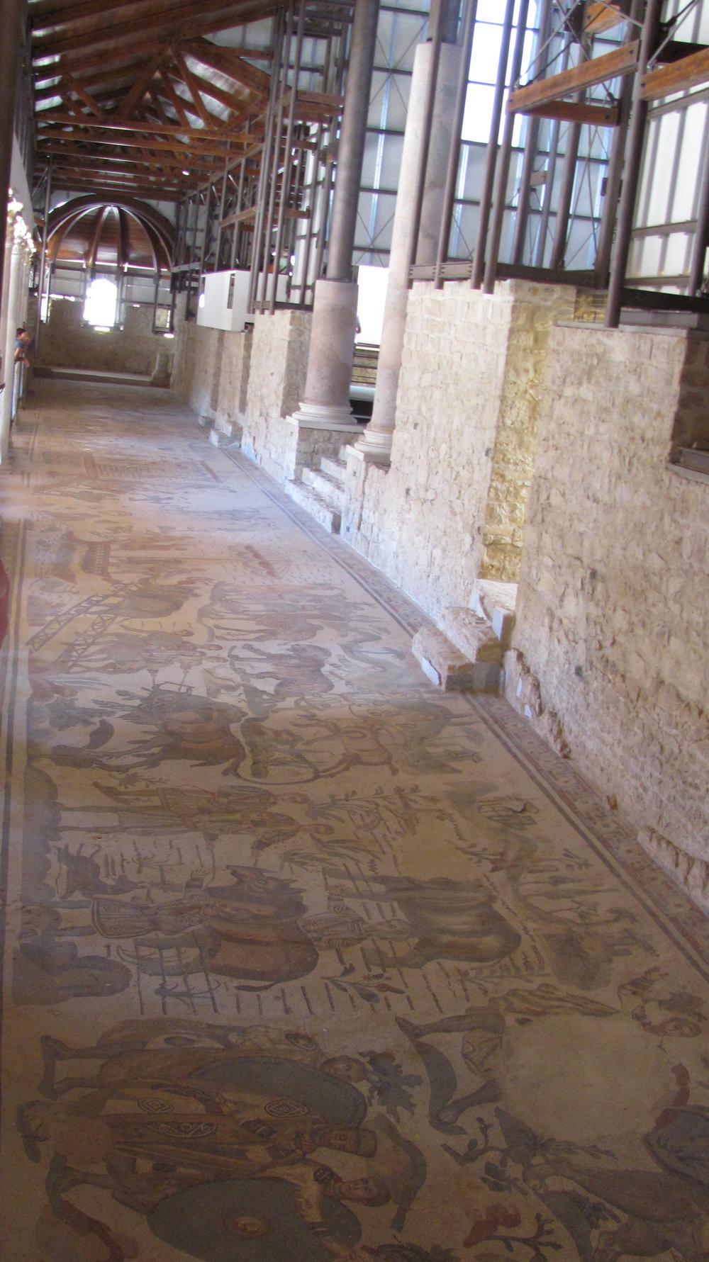 Floor and wall mosaics