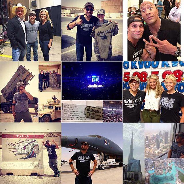@garthbrooks, @therock, @laurenalaina, @dubai, and b51 bombers?! 2015 has definitely rocked! Thank you Okies for making this year amazing! #OkiesRock #bestof2015