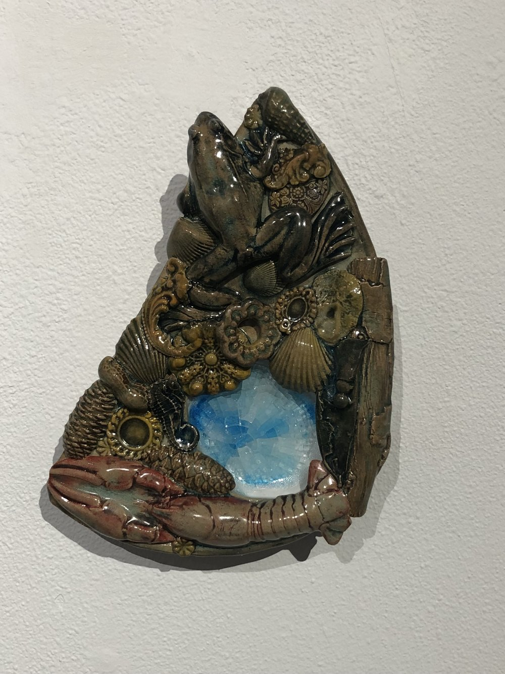 "David Scott Smith, ""Clean Swamp,"" cone 6 stoneware, 2018"
