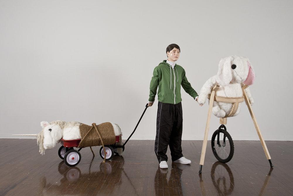 """Alex Podesta, """"Victors,"""" mixed media sculpture"""