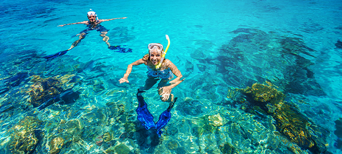 Snorkel in the beautiful tropical waters of the Marieta Islands.