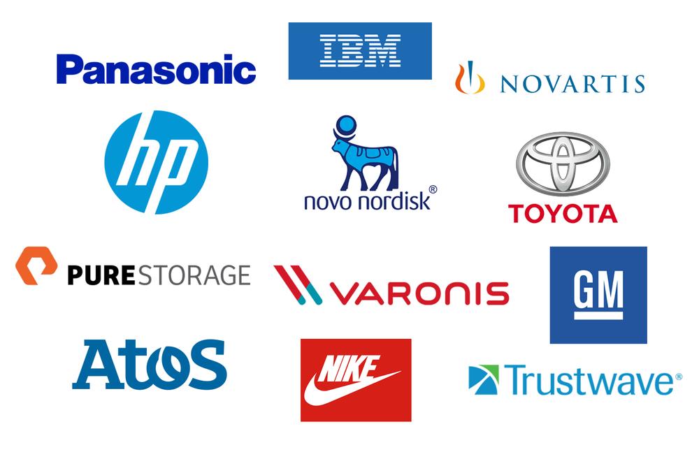 Trade show presenter client logos